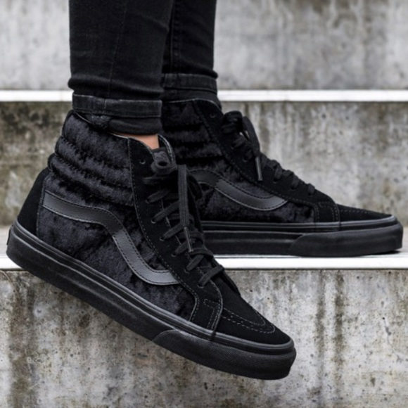 d092d2f8e8 Vans SK8-Hi Reissue Black Velvet Shoes